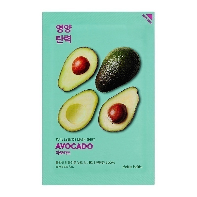 holika holika pure essence mask sheet avocado miss missy asiatische kosmetik. Black Bedroom Furniture Sets. Home Design Ideas