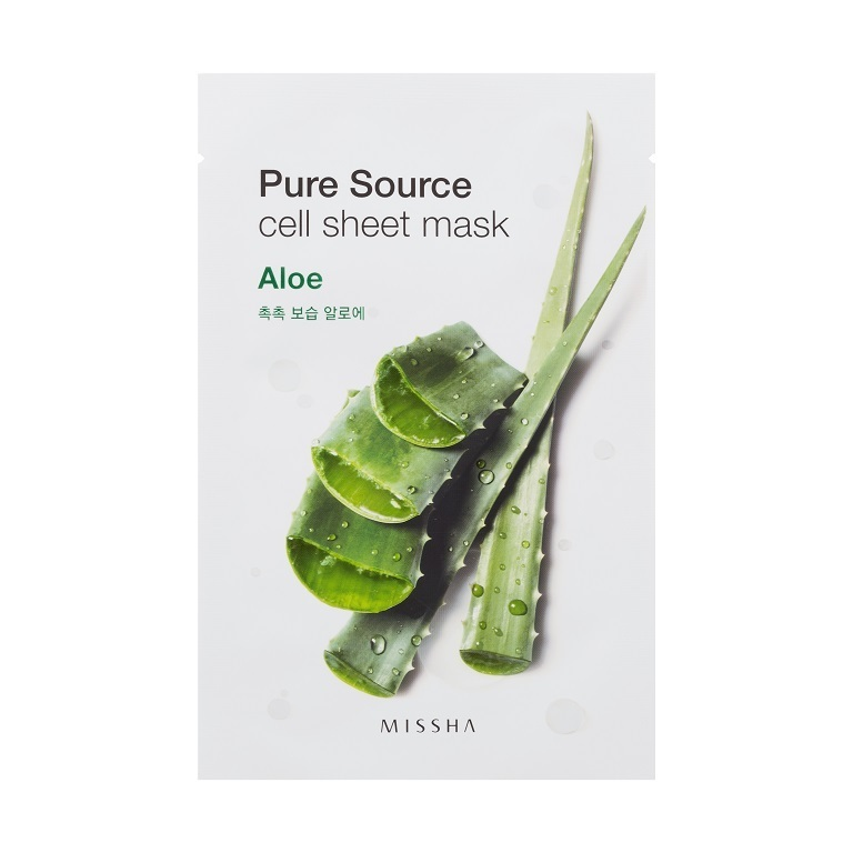 Missha - Pure Source Cell Sheet Mask (Aloe)